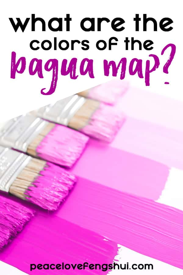 what are the colors of the feng shui bagua map?