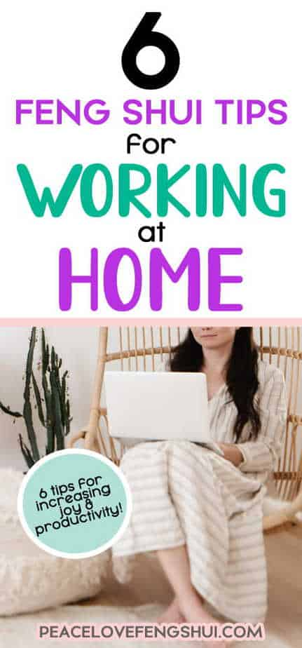 more productivity work at home feng shui