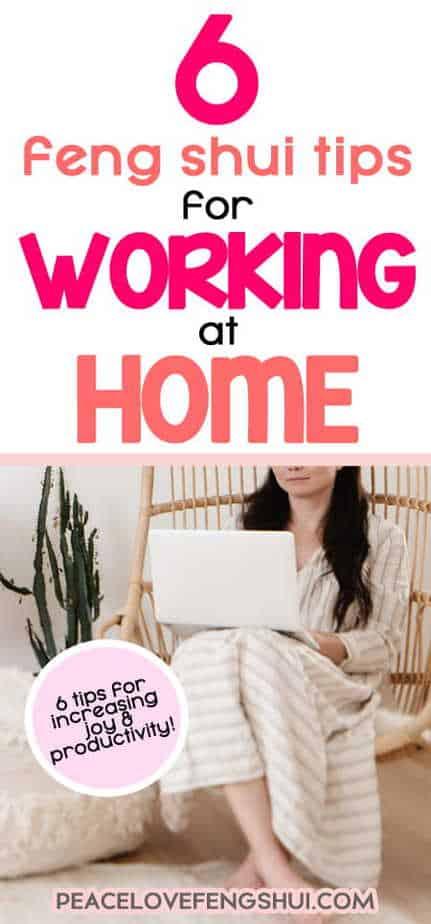 feng shui home work tips