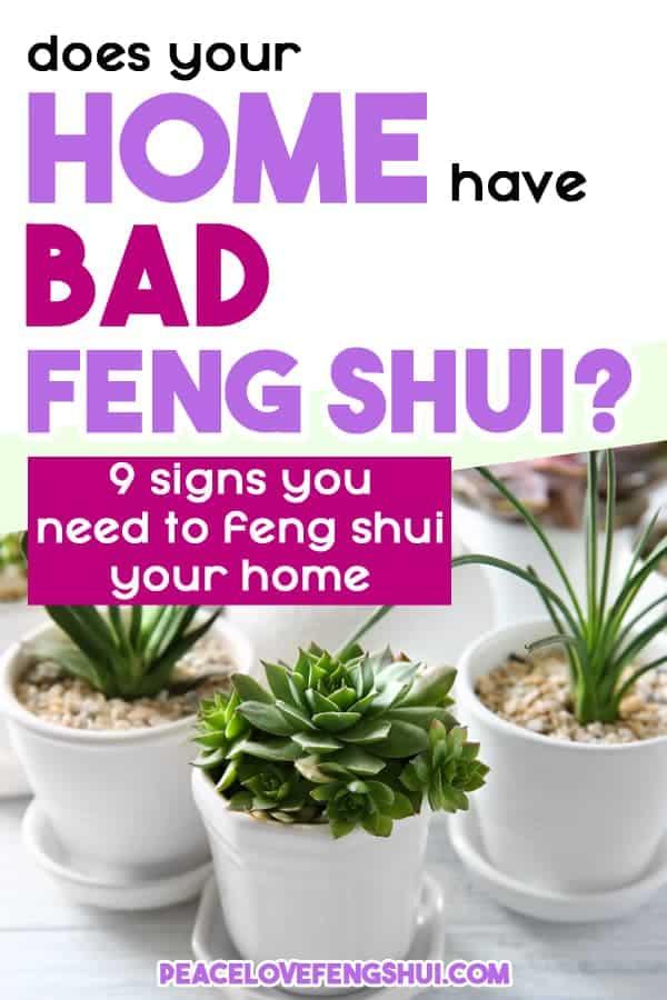house has bad feng shui