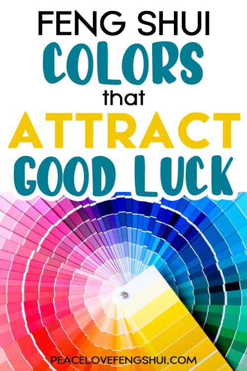 colors for good luck feng shui