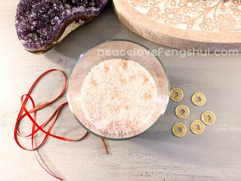 feng shui salt water cure ingredients