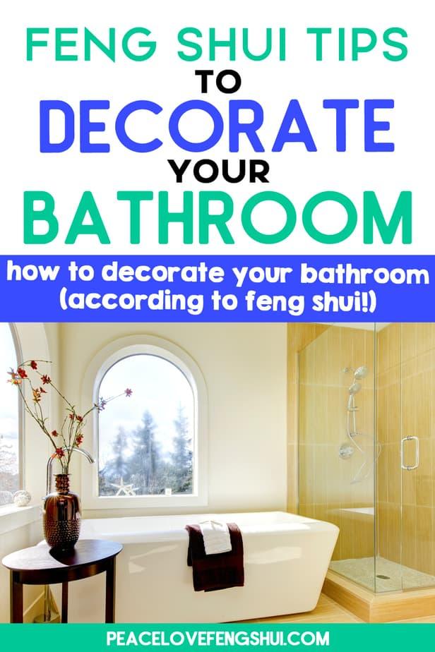 feng shui decorating bathroom