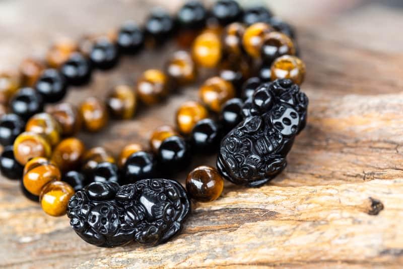 feng shui bracelet obsidian pixiu