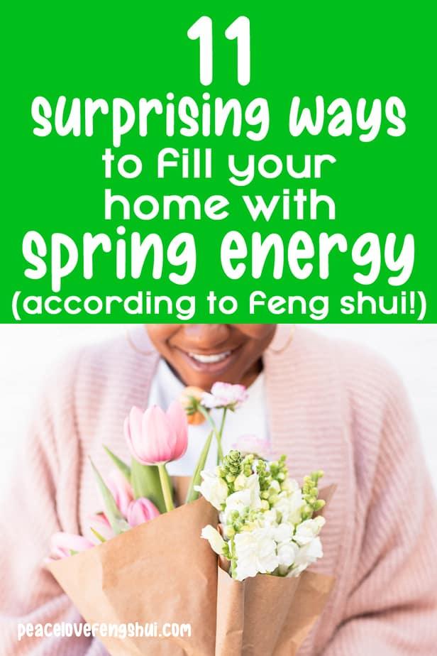 spring decor feng shui