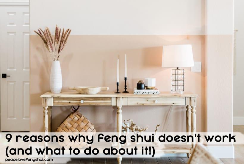 feng shui doesn't work
